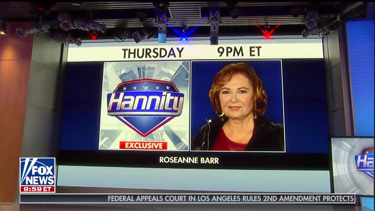 Roseanne Barr Will Sit Down With Fox's Hannity For First Post-Firing Television Interview