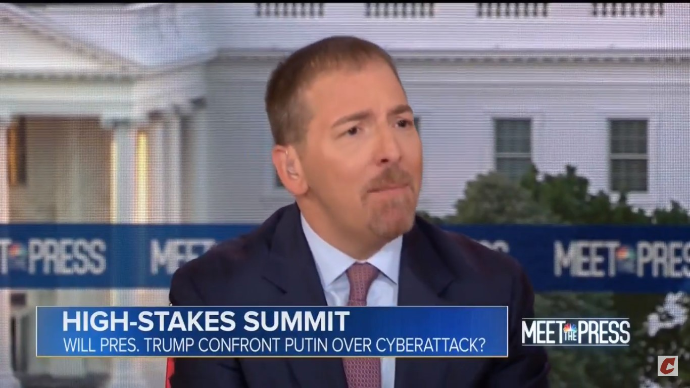 Chuck Todd Scolds Hugh Hewitt For Whining About Trump-Putin Media Coverage: 'I'm Tired Of That'