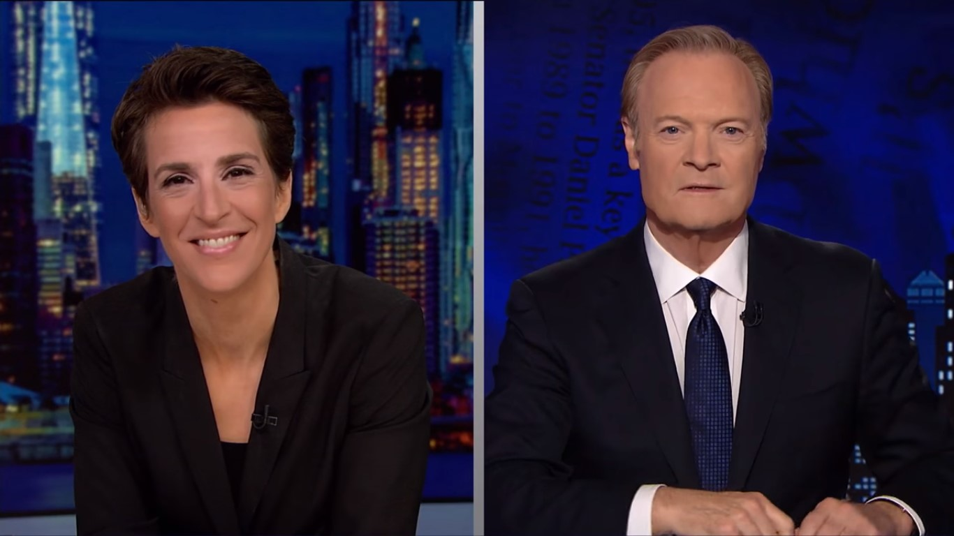 Maddow And O'Donnell Top Cable News Thursday Night, MSNBC Most-Watched In Cable