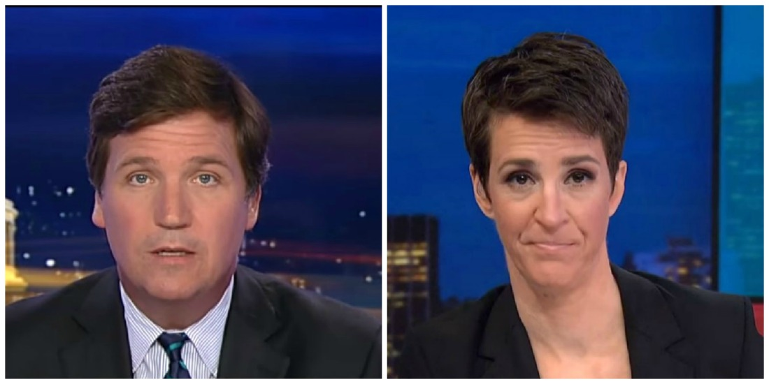 Tucker Carlson Leads Cable News Ratings Monday Night, Maddow Finishes Third