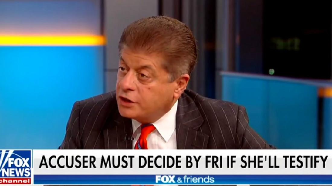Fox News' Judge Napolitano Calls On Senate To 'Subpoena' Christine Blasey Ford