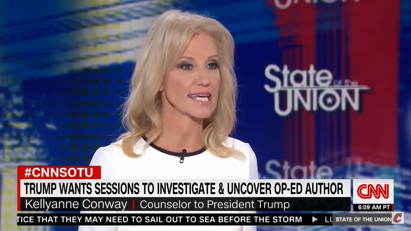 Kellyanne Conway Admits She Has 'No Idea' Why Anonymous Op-Ed Would Be Illegal