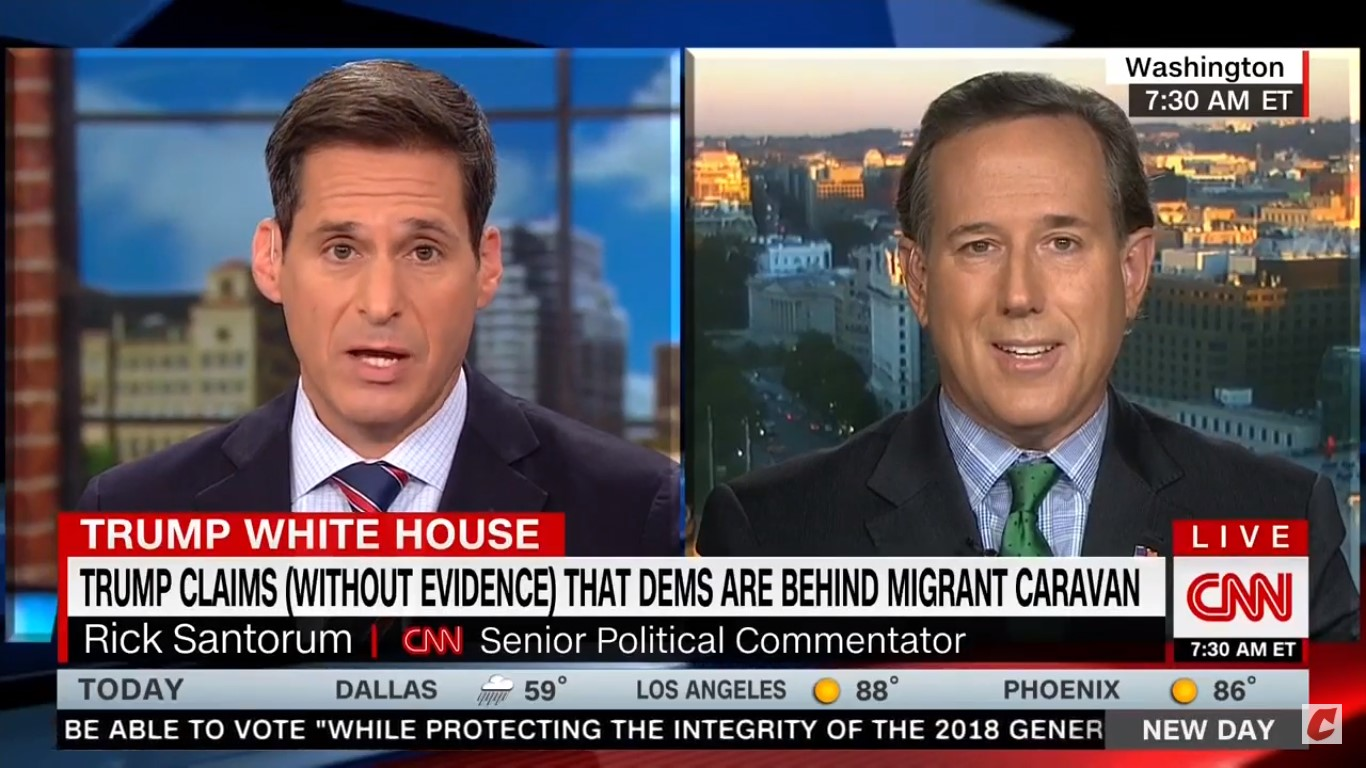 CNN's John Berman Corrects Rick Santorum: The Democrats 'Are Not Calling For Open Borders'