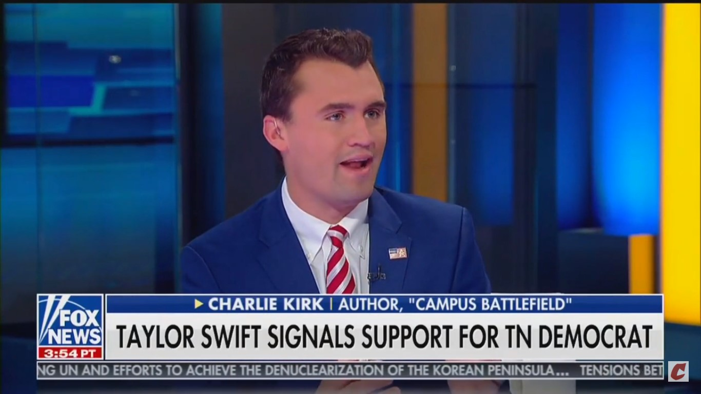 Charlie Kirk Tells Taylor Swift To 'Stay Away From Politics'