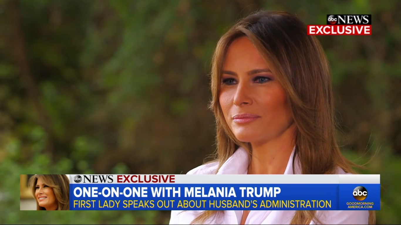 Melania Trump Informs Us That Melania Trump Could Be 'The Most Bullied Person In The World'