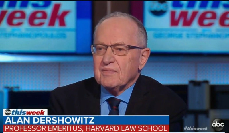 Dershowitz Once Said Trump Would 'Likely' Continue to Embrace Corruption as President