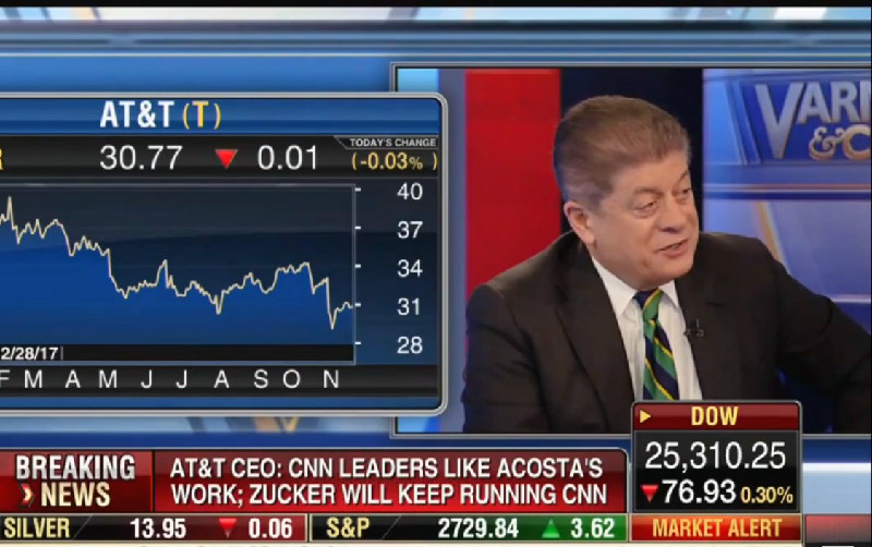 Fox's Judge Napolitano On CNN Lawsuit: They Have A 'Very Good Case' Against White House, Should 'Prevail'