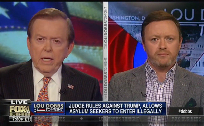 Lou Dobbs On Refugees: They Are 'Attacking Our Border' And Telling Us To 'Go To Hell'