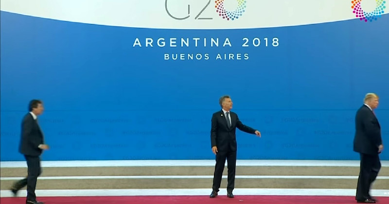 Trump Wanders Off G20 Stage, Mutters 'Get Me Out Of Here' While Awkwardness Ensues