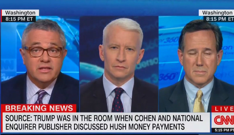 Jeffrey Toobin Calls Out Rick Santorum's Moral Hypocrisy: 'Making Excuses For Paying Off Porn Stars'
