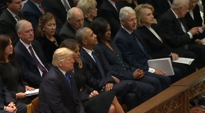 Chris Wallace: 'It Was As If A Chill Had Descended' When Trump Arrived At Bush Funeral