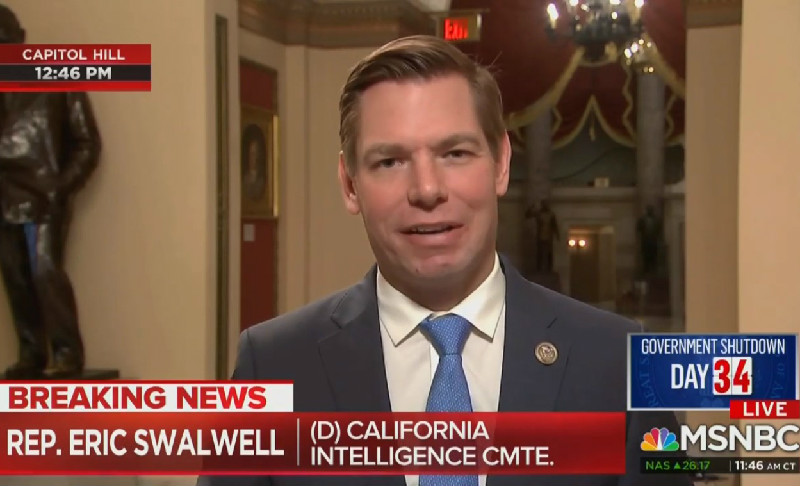 Eric Swalwell: Trump Is Acting Just Like MS-13 By Threatening Michael Cohen's Family