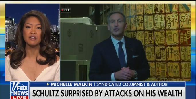 Michelle Malkin: Howard Schultz Will Be Eaten Alive By Progressive Democrats