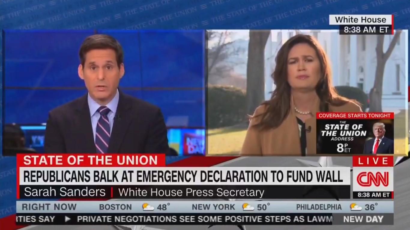 WATCH: CNN's John Berman Fact-Checks Sarah Sanders On Drugs Coming Across Border