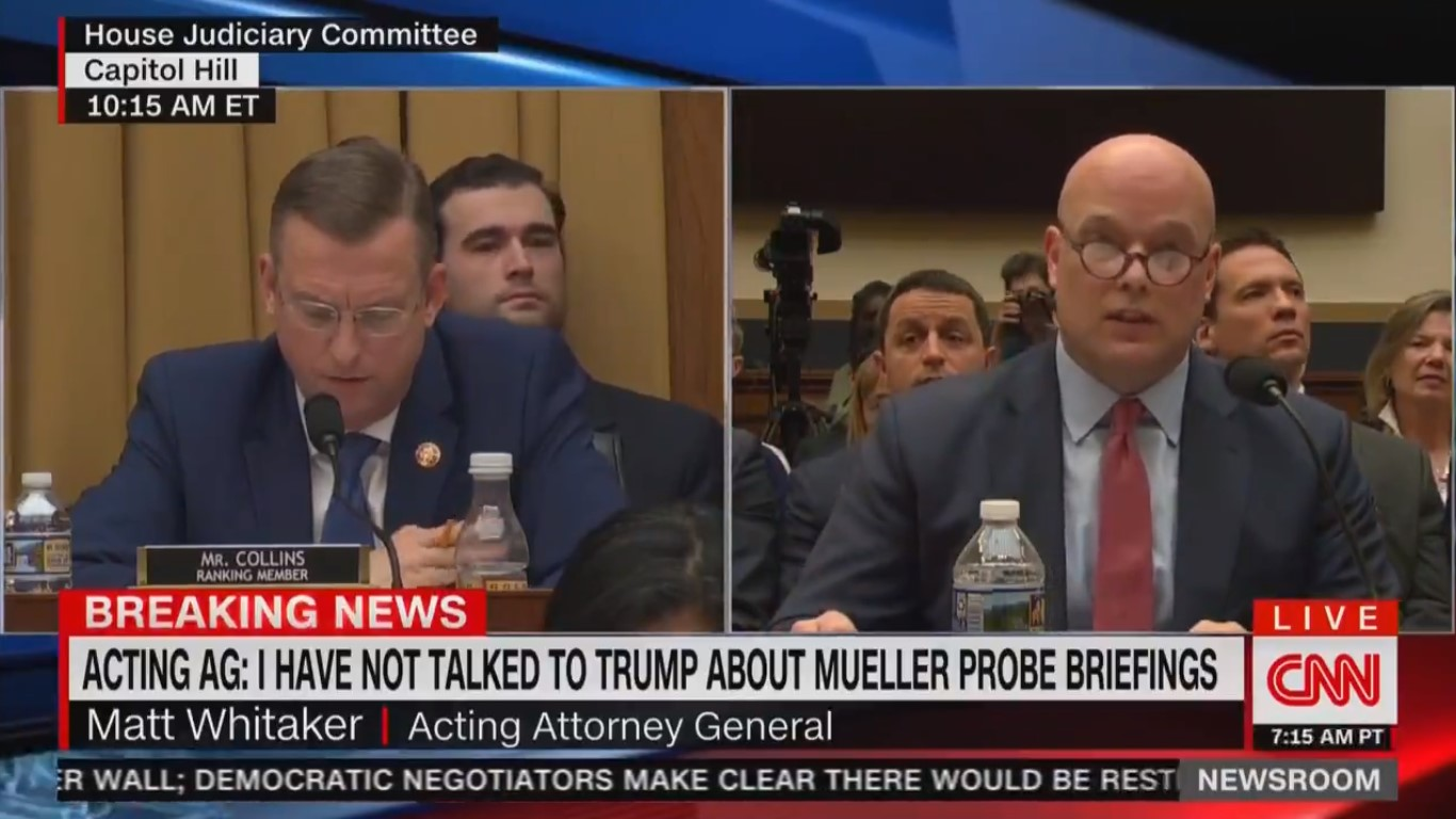 WATCH: GOP Rep Asks Whitaker About Right-Wing Conspiracy Theory on Roger Stone's Arrest