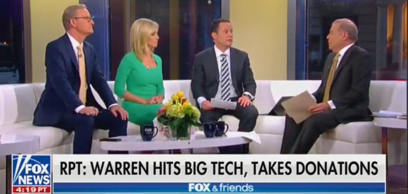 Fox & Friends Agree With Elizabeth Warren On Tech Companies In Surprisingly Positive Segment