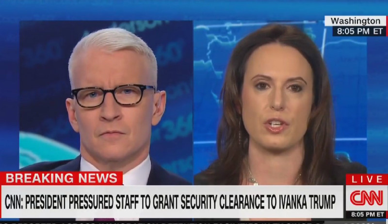 Anderson Cooper Wonders Why Ivanka Has a White House Job: 'What Does She Actually Do?!'