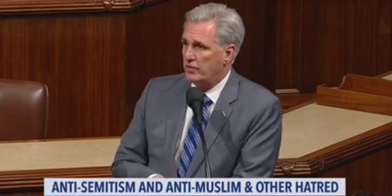 GOP Leader Brags Party Opposes Hate Right Before 23 Republicans Vote Against Anti-Hate Resolution