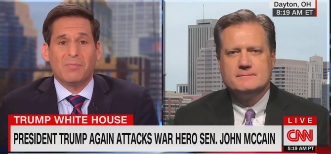 Watch: Republican Congressman Desperately Avoids Criticizing Trump's Attack On McCain