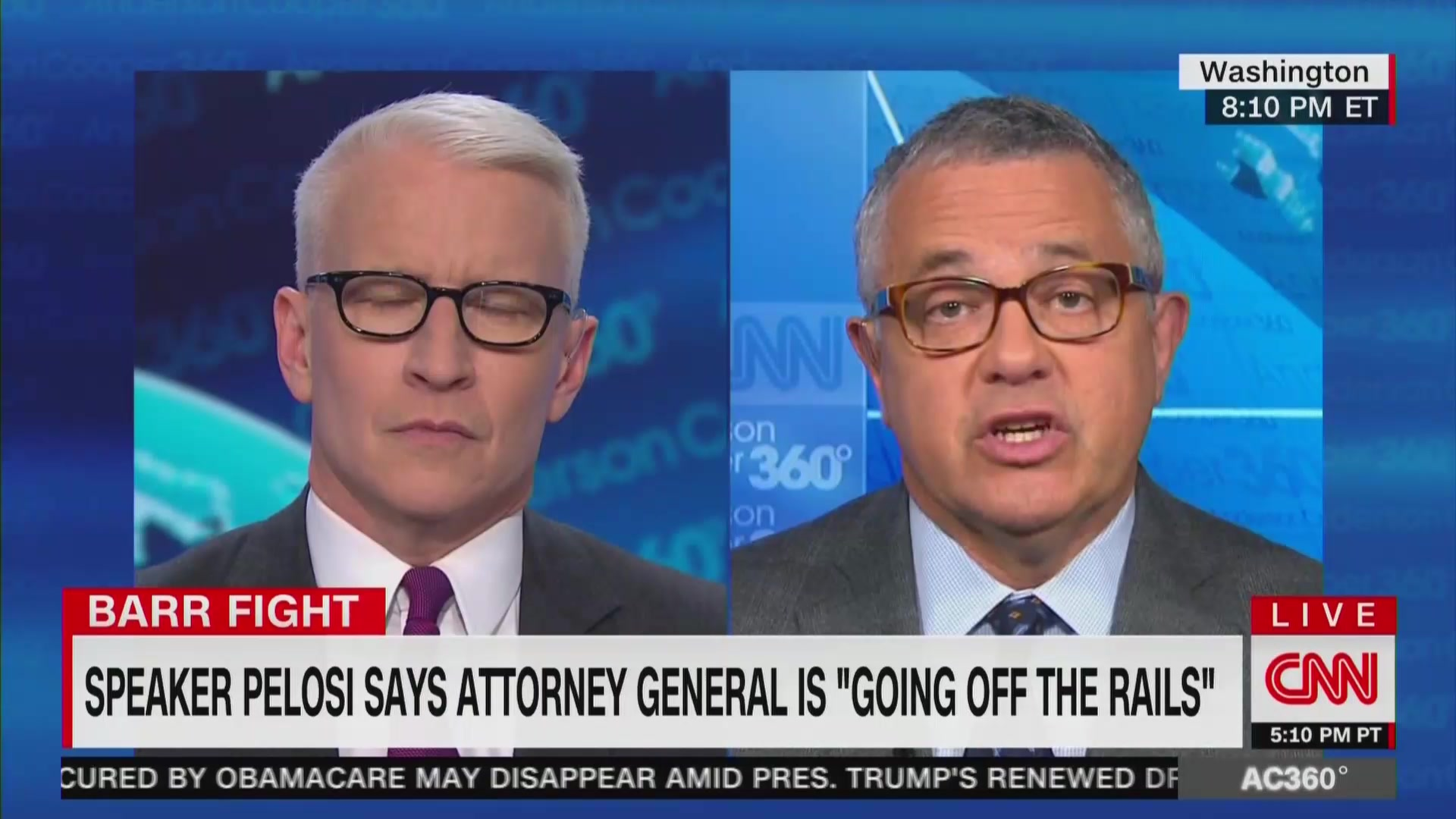 CNN's Jeffrey Toobin: William Barr 'Talks Like Sean Hannity'