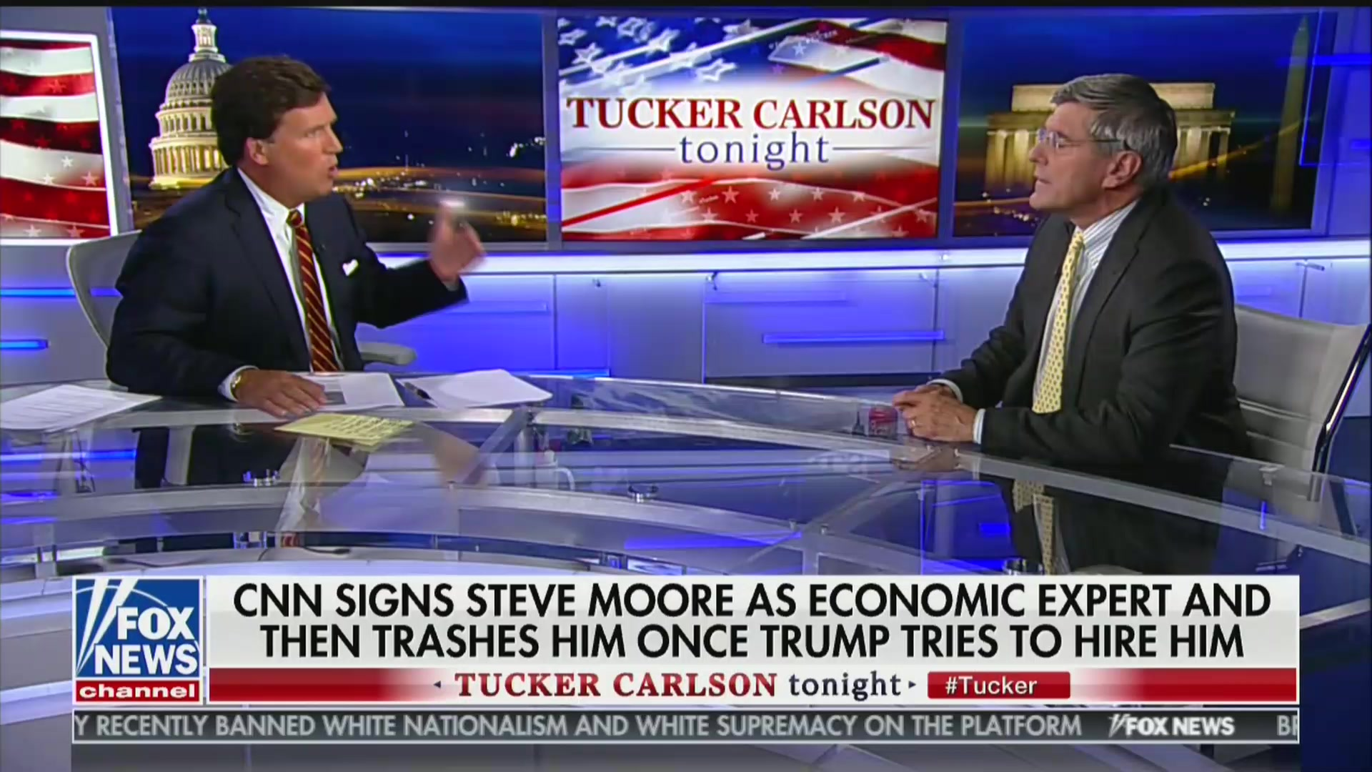 Tucker Carlson to Stephen Moore: White House Showed 'Weakness' By Giving Up on You