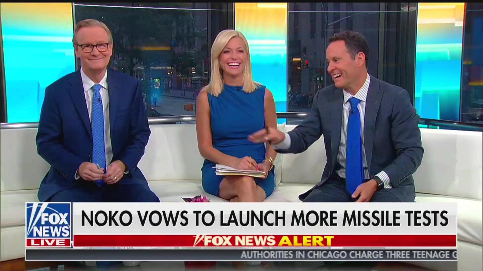 Fox & Friends' Brian Kilmeade Says Trump Has 'Policy of Underreacting,' Causing Co-Hosts to Laugh
