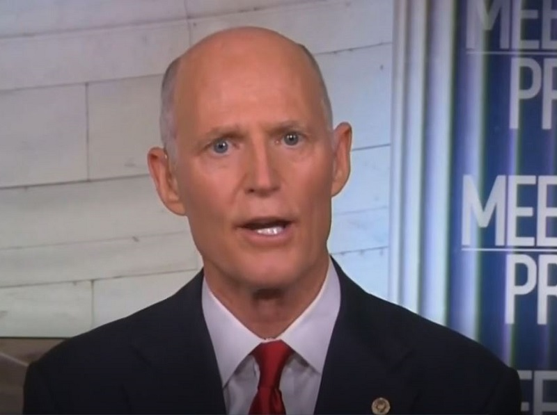 Rick Scott Dodges Questions About Trump's Racism by Complaining About Dems' Attacks on Border Patrol