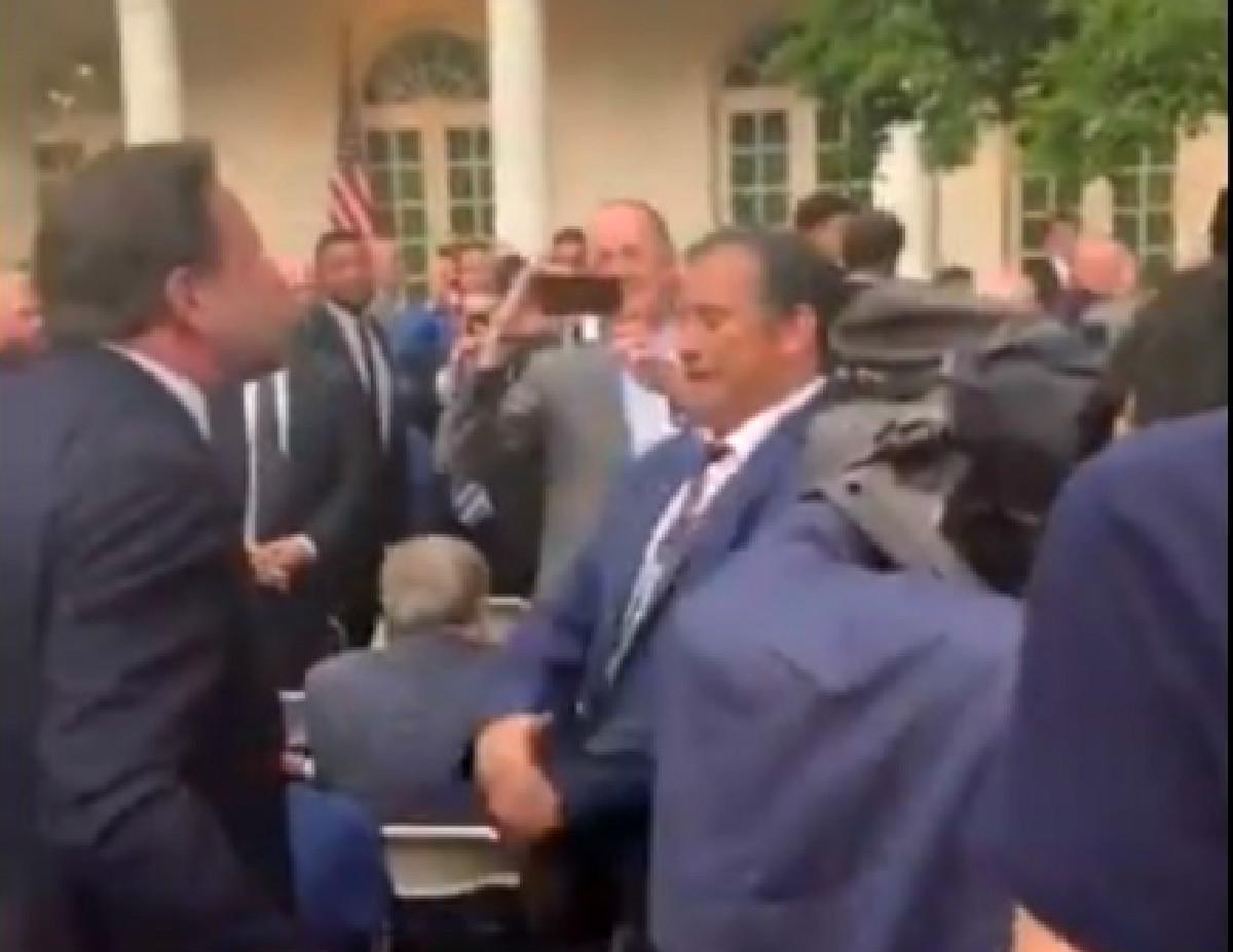 WATCH: Seb Gorka Gets in White House Reporter's Face, Calls Him 'A Punk,' Runs Away