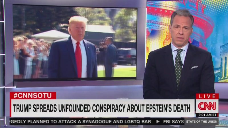 Jake Tapper Slams Trump for Spreading 'Insane Conspiracy Theories': 'It's Dangerous'