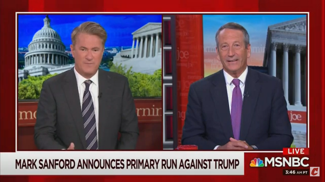 Trump Challenger Mark Sanford Refuses To Say If The President Is A Republican