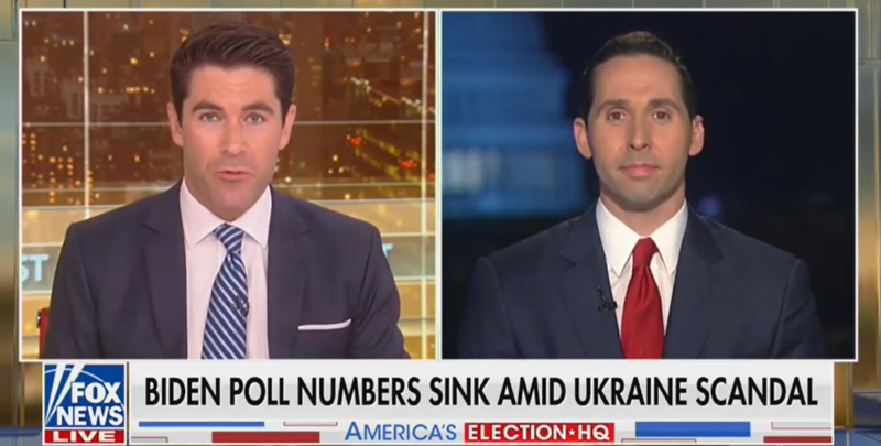 Fox News Guest Blames Ukraine Scandal For Joe Biden's Poll Numbers