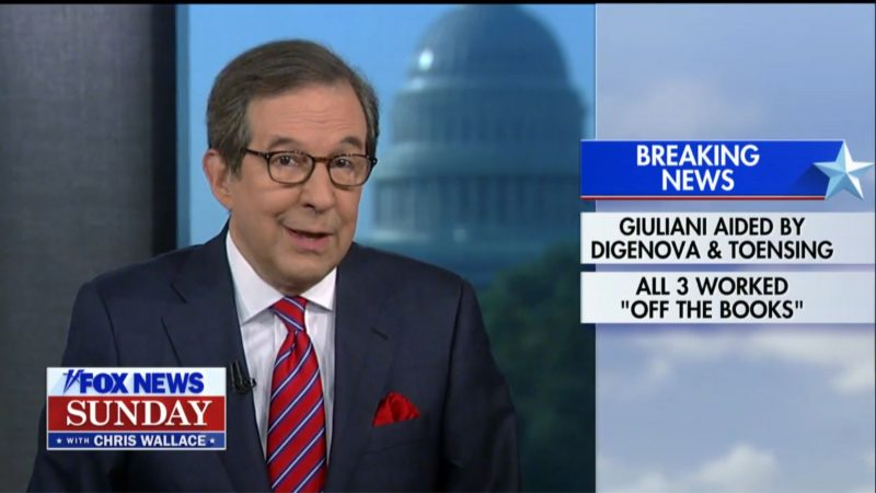 Fox's Chris Wallace Drops Bombshell: Frequent Fox Guests Helped Giuliani Dig Up Ukraine Dirt on Biden