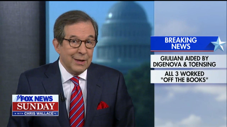 Fox's Chris Wallace Drops Bombshell: Frequent Fox Guests Helped Giuliani Dig Up Ukraine Dirt on Biden