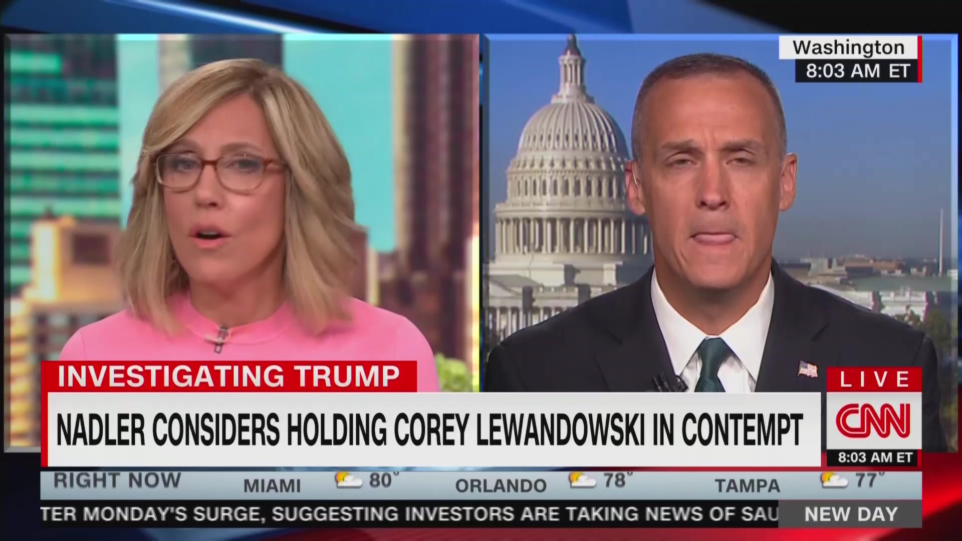CNN Brings On Corey Lewandowski a Day After He Admits He Lies to the Press