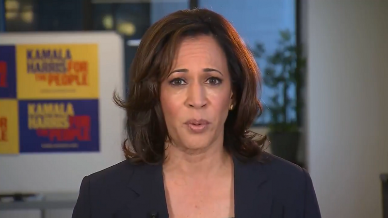 Kamala Harris: Trump's Twitter Account Should Be Suspended