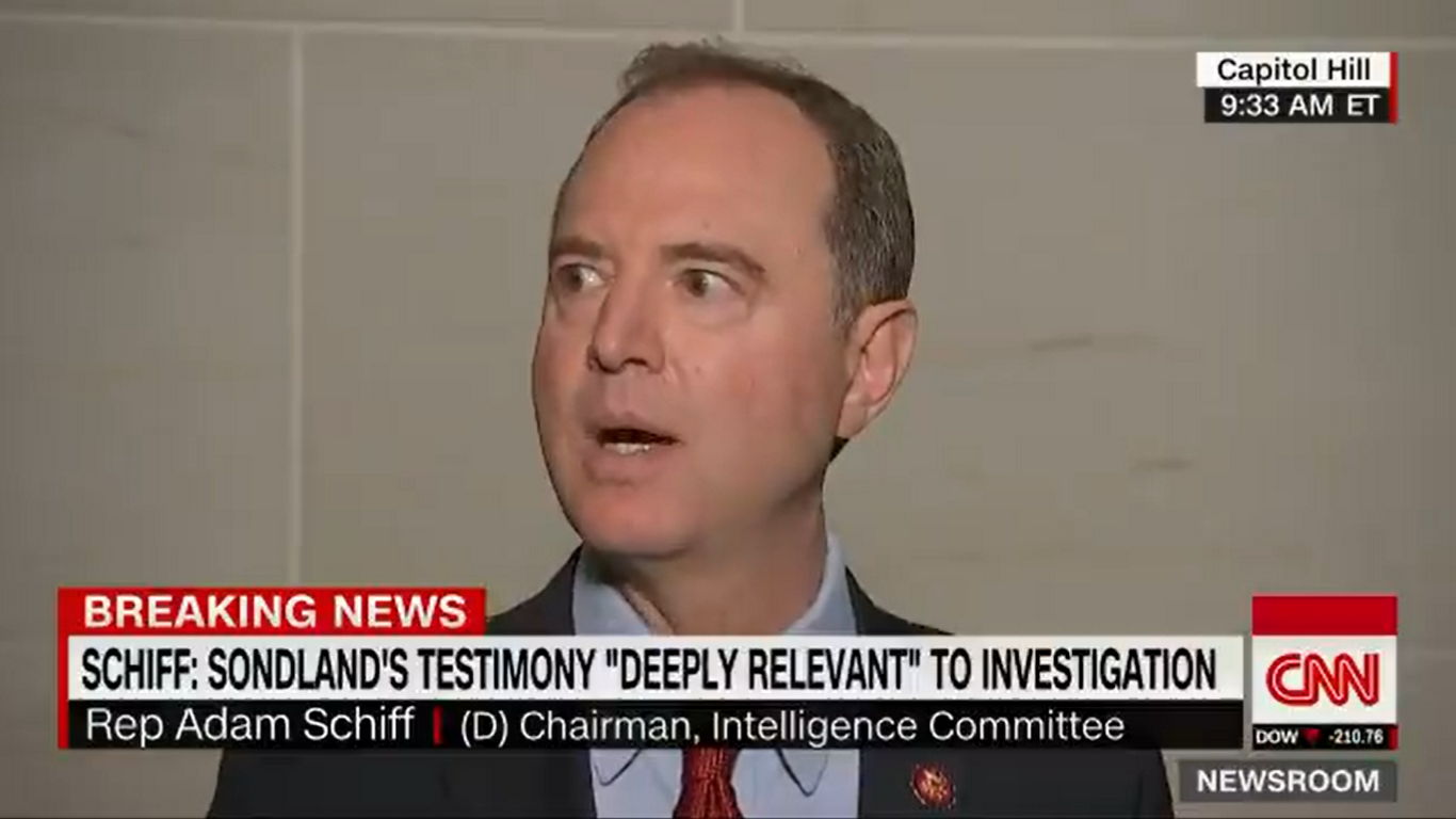 Adam Schiff: State Department Is Withholding Relevant Text Messages and Emails From Gordon Sondland