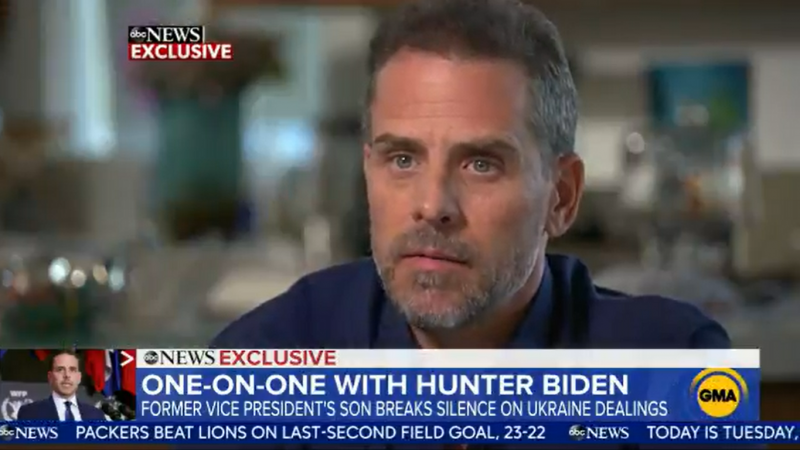 Hunter Biden Admits 'Poor Judgment' but Slams 'Ridiculous Conspiracy' about Ukraine