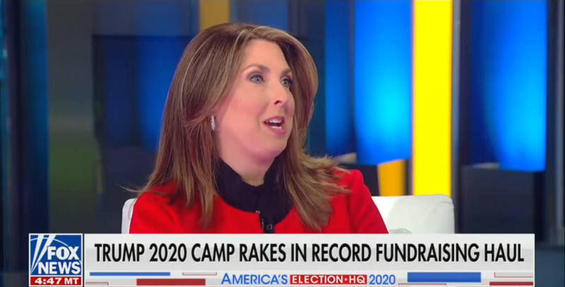 RNC Chair Ronna McDaniel: 'Dollars Are The Polls Right Now'
