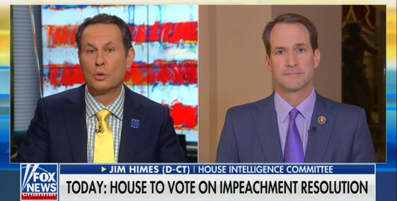 Democratic Rep. Jim Himes Clashes with Fox's Brian Kilmeade: 'That's Not What I Think. That's What's Happening'