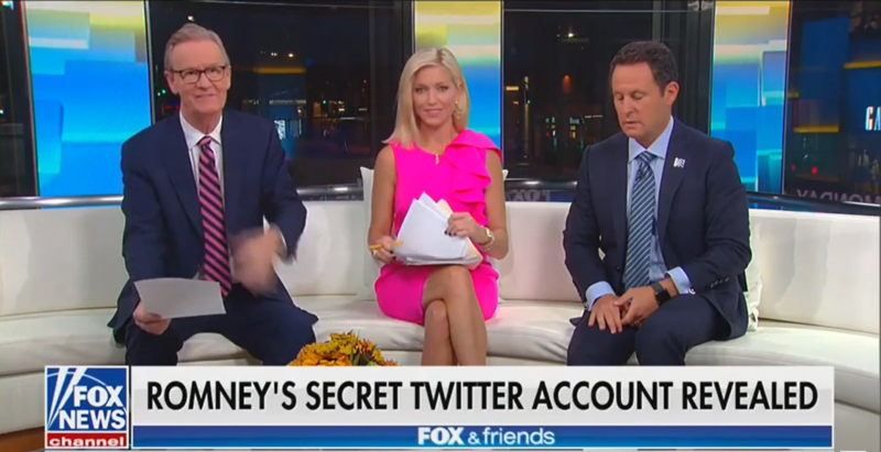 'Fox & Friends': Mitt Romney's Secret Twitter Account Is OK 'As Long as He Wasn't Using it to Say Negative Things'