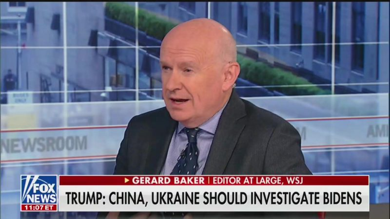 Wall Street Journal Editor Praises Trump's 'Legitimate' Call for China to Dig Up Dirt on Biden