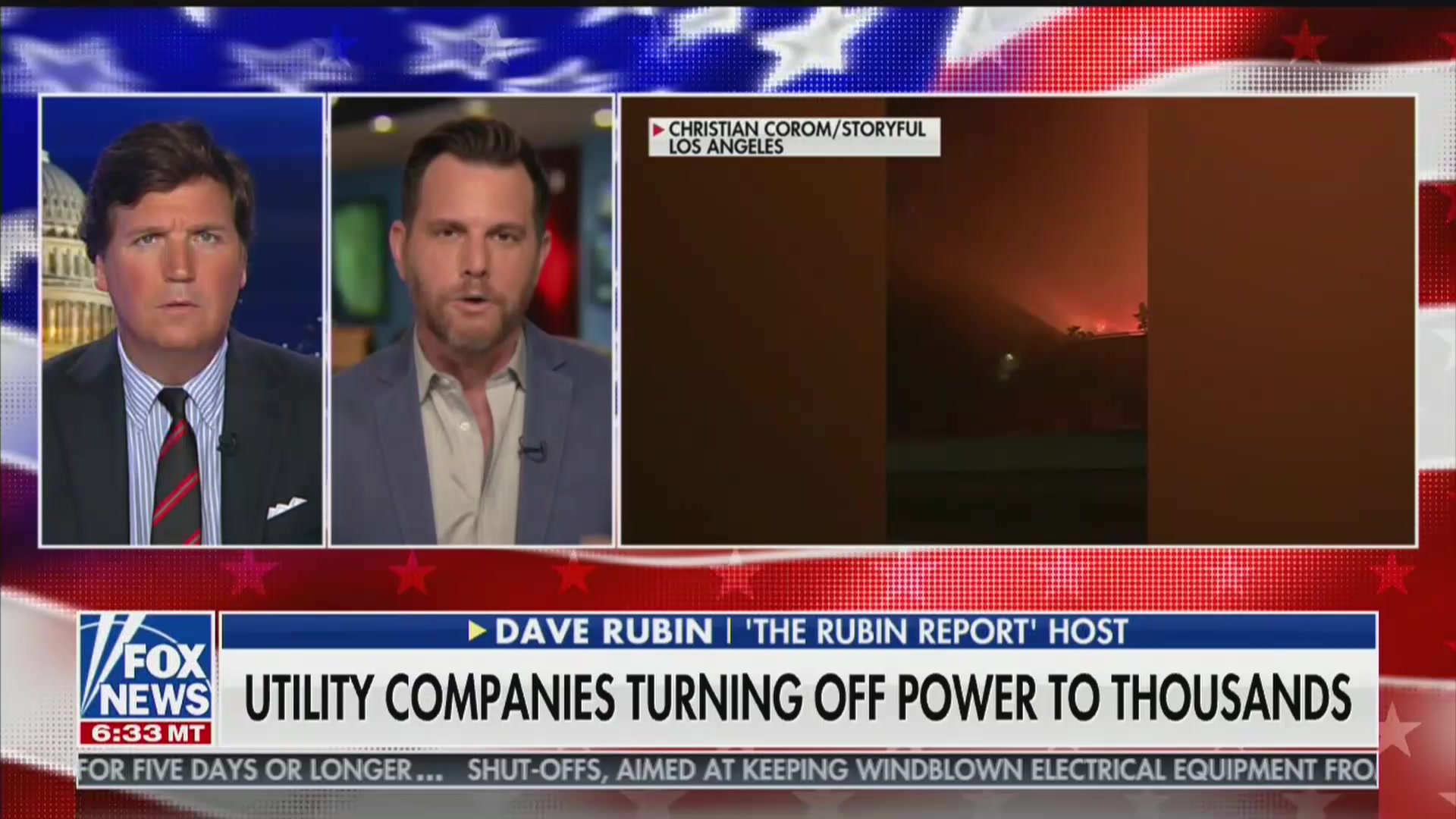 Tucker Carlson, Dave Rubin Claim 'Woke' Culture Is to Blame for California Fires