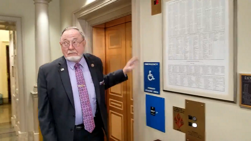 GOP Rep. Don Young Headbutts a Camera When Asked a Question About Trump