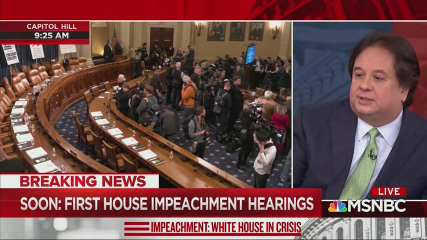 George Conway Makes First TV Appearance for MSNBC's Special Impeachment Coverage