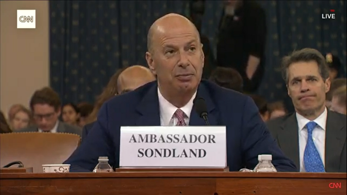 Gordon Sondland Confirms There Was a Ukraine Quid Pro Quo