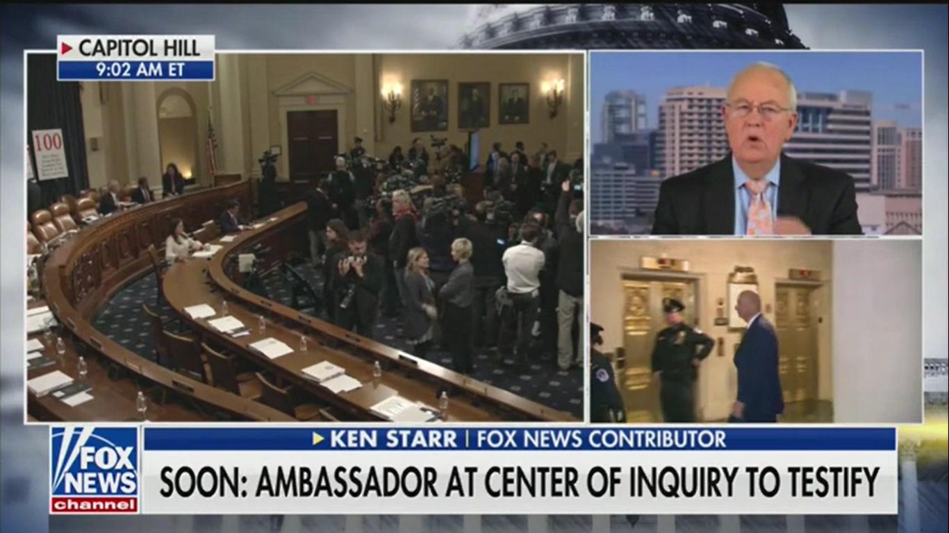 Ken Starr: Republican Senators Could 'Make a Trip' to the White House Following Sondland's Testimony