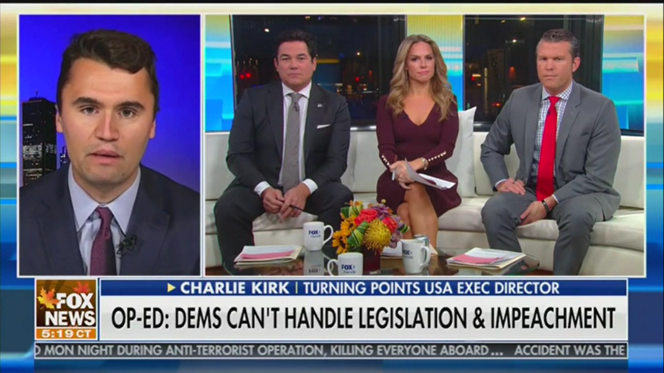 Charlie Kirk Accuses Democrats of 'Premeditated Impeachment': They 'Don't Want to Give Trump the Win'