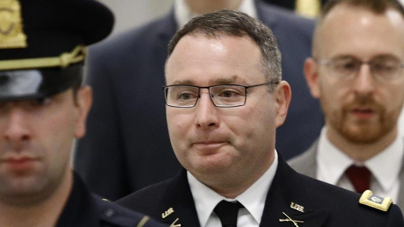 Impeachment Witness Lt. Col Alexander Vindman Retires from the Army