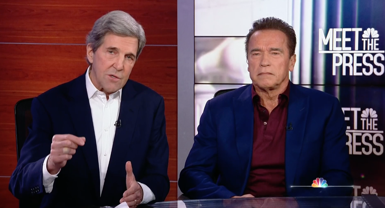 Schwarzenegger, Kerry Outline Climate Change Initiative 'World War Zero'