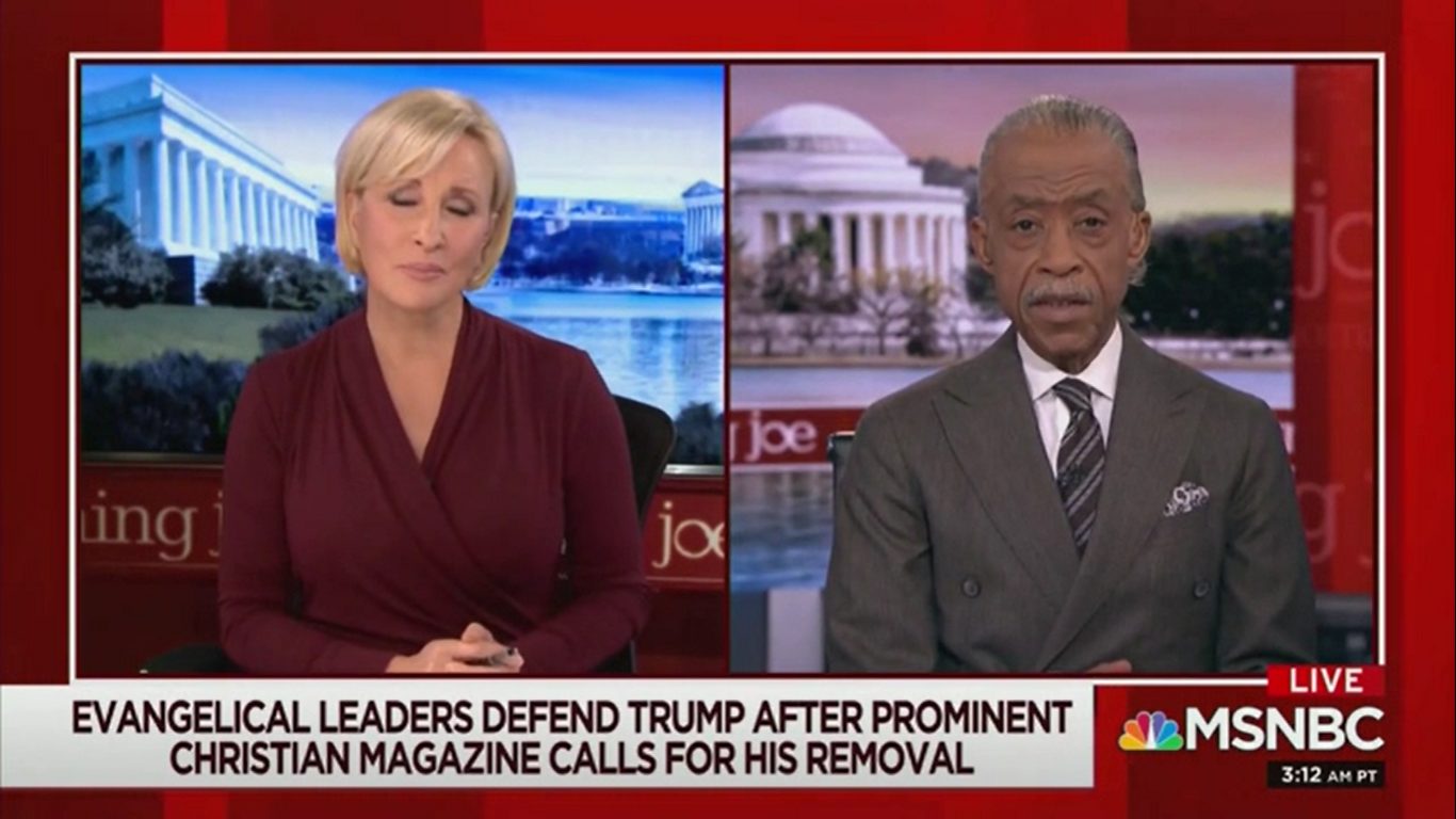 Al Sharpton: Trump-Supporting Evangelicals 'Would Sell Jesus Out'